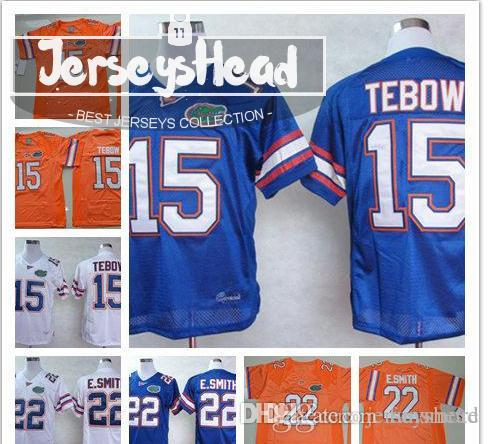 on sale 2c94f 3548c Mens Tim Tebow College Football Jerseys cosidos # 22 Emmitt Smith Florida  Gators NCAA Jersey S-3XL