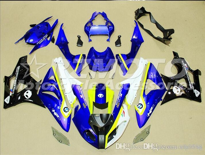 New Injection ABS bike Fairing Kits 100% Fit For BMW S1000RR 2009 2010 2011 2012 2013 2014 BMW S1000RR 2009-2014 Blue White Yellow Z9