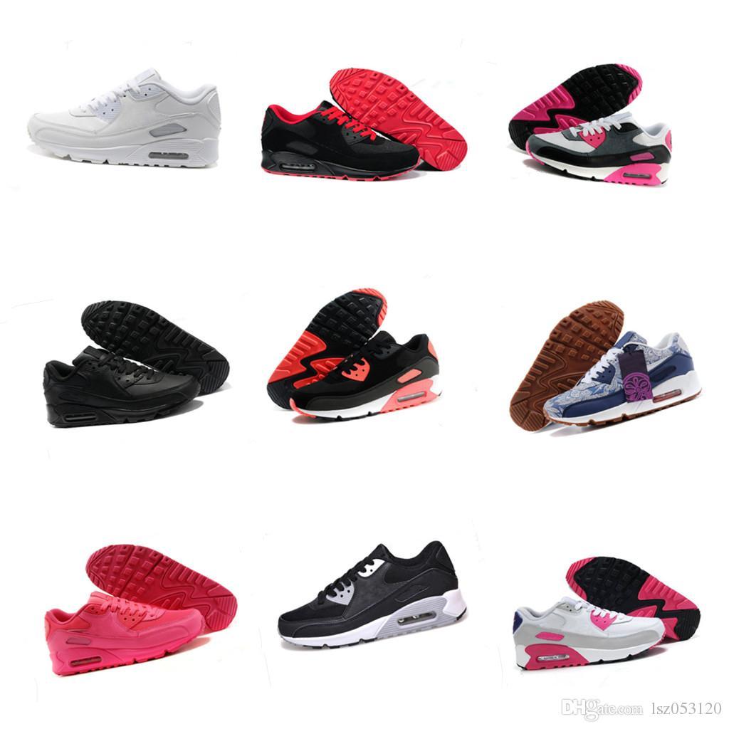 Nike AIR MAX 90 ID Marque de mode Chaussures Casual Pour Femmes Low Cut Blanc Noir Occasionnel En Plein Air Dunk Chaussures Unisexe Zapatos Skateboard