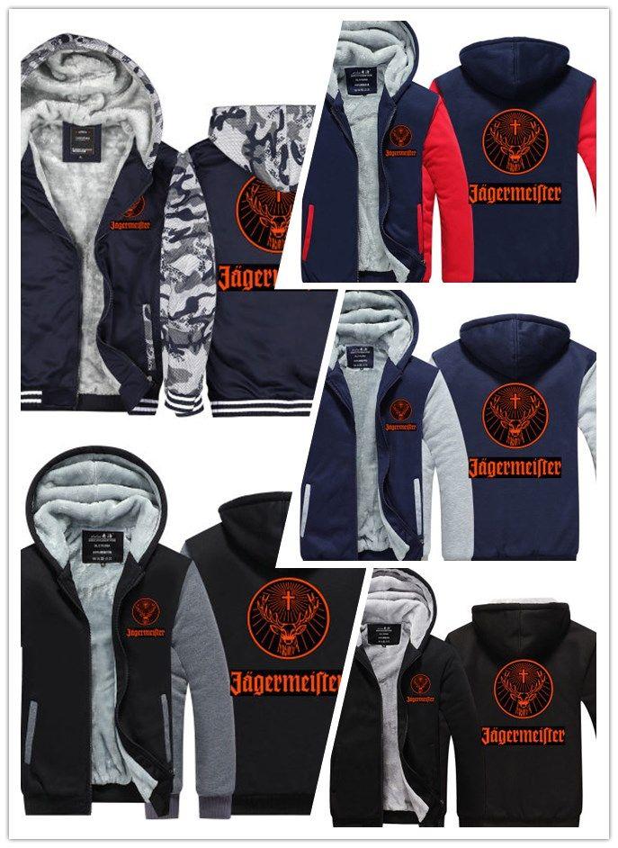 Acquista Felpa Invernale Jagermeister Auto Logo Stampa Uomo Donna Warm  Fleet Felpe Autunno Vestiti Felpe Zipper Giacca In Pile Con Cappuccio  Streetwear A ... c181d7f2a1f7
