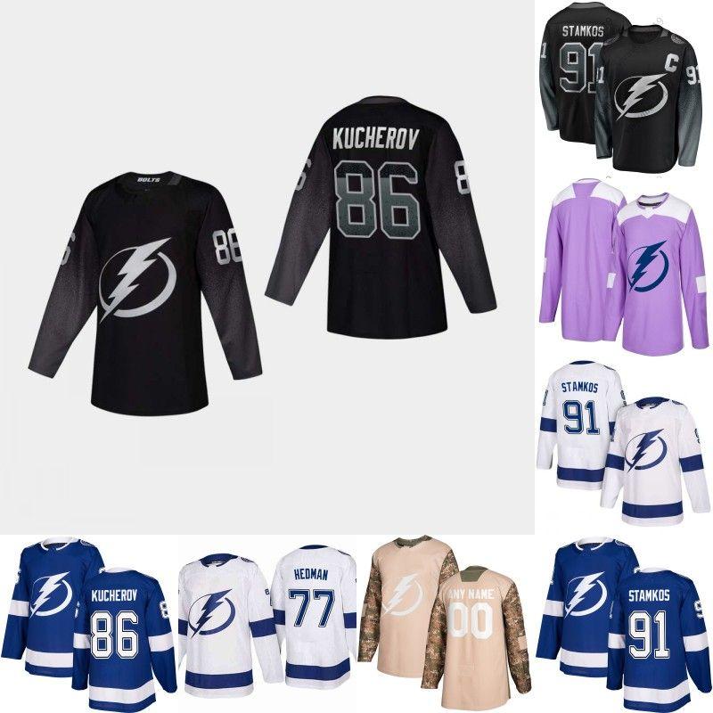 2019 Tampa Bay Lightning Jersey 27 Ryan McDonagh 77 Victor Hedman 86 Nikita  Kucherov 91 Steven Stamkos 98 Mikhail Sergachev Hockey Jerseys From ... 47abb4eaa