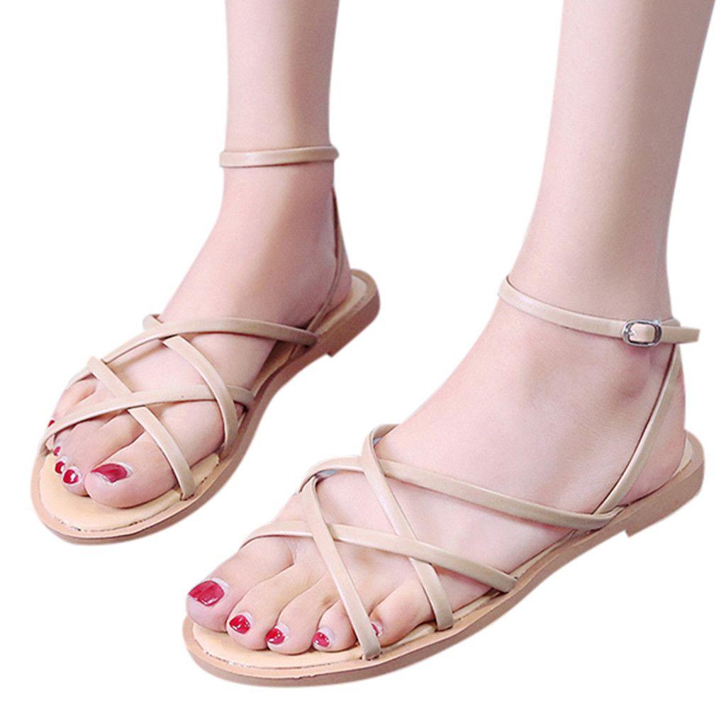 Playa Compre Sandalias Planas Zapatos De Mujer 2019 Verano MVpqSzU