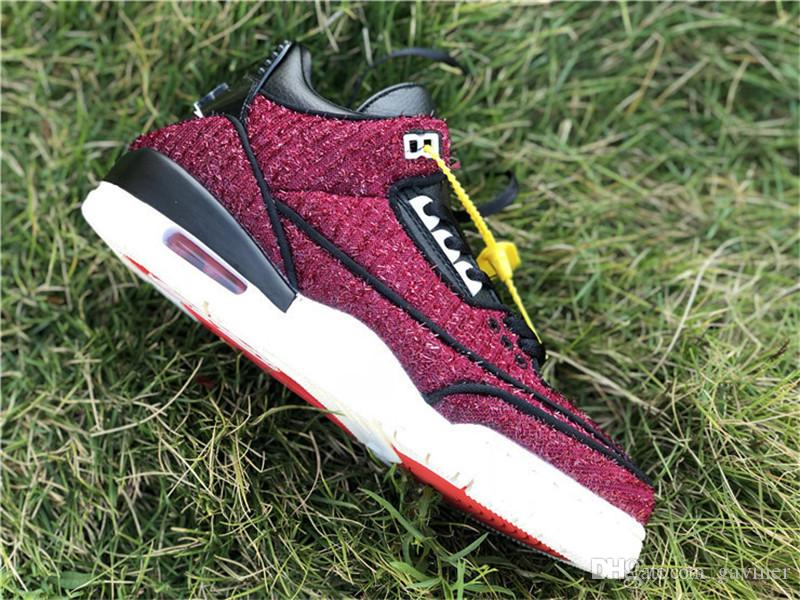 b02d57fe8366 New Arrival Vogue X 3 3s Shoes High Quality III AWOK NRG Red Black Sneakers  Size EU40 47.5 With Original Box Footwear Sport Shoes From Gaviner