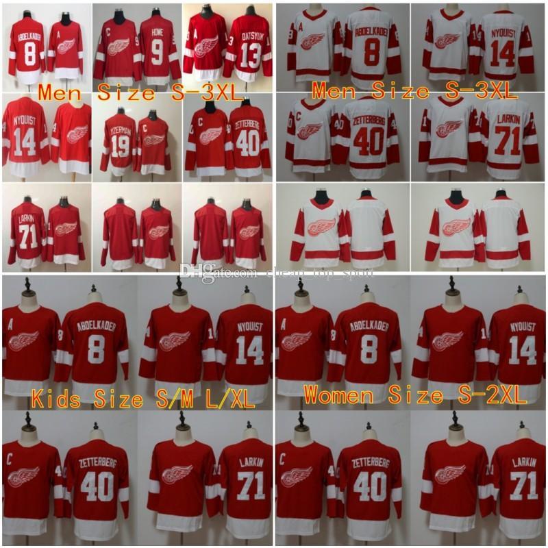 8bf7bd2e8f3 2019 Men Kids Women Detroit Red Wings Jerseys Hockey 13 Datsyuk 40  ZETTERBERG 19 Yzerman 71 Larkin Howe Red White Ice From Cheap_top_sport,  $38.58 | DHgate.