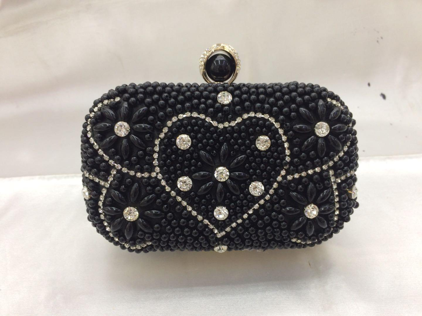 new women bags evening luxury handbags Gift designer Heart-shaped Diamond and pearl decoration tote shoulder bridal wedding wallet1564829299