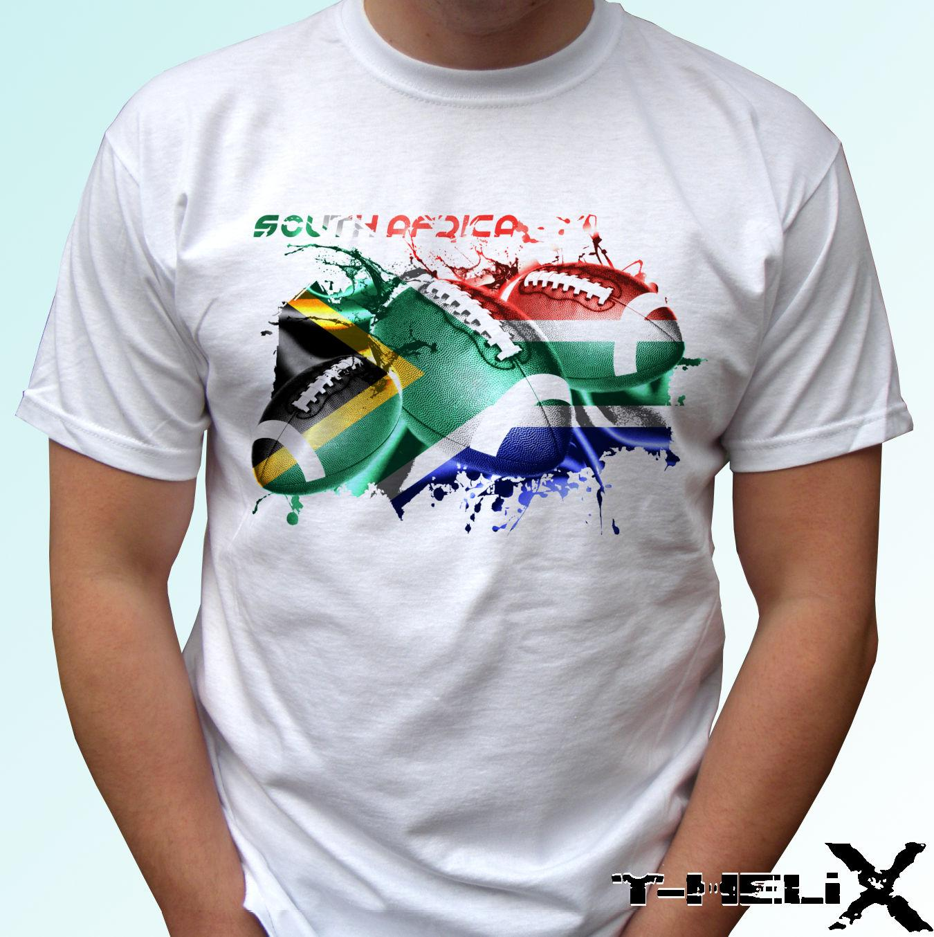 be059cef South Africa Rugby Flag White T Shirt Top Tee Football Design Mens, Kids  Sizes Funny Unisex Casual Tshirt Top Mens T Shirts Funny Shirts From  Thetoynation, ...