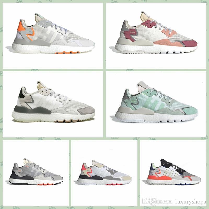Adidas Nite Jogger Boost Nite Jogger Schuhe Herren Damen Laufschuhe CORE BLACK SHOCK RED Originals Klassische Sportschuhe Fashion Trainer Shoes36 45