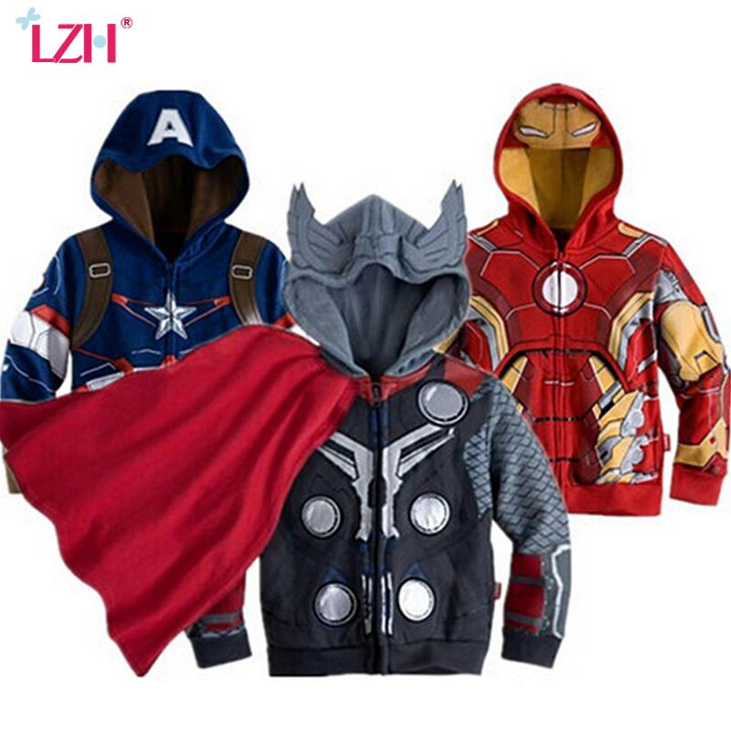 738d2663591 LZH 2019 Spring Autumn Boys Jacket For Boys Spiderman Avengers Iron Man  Hooded Jacket Kids Warm Outerwear Coat Children Clothes Youth Jackets  Childrens ...