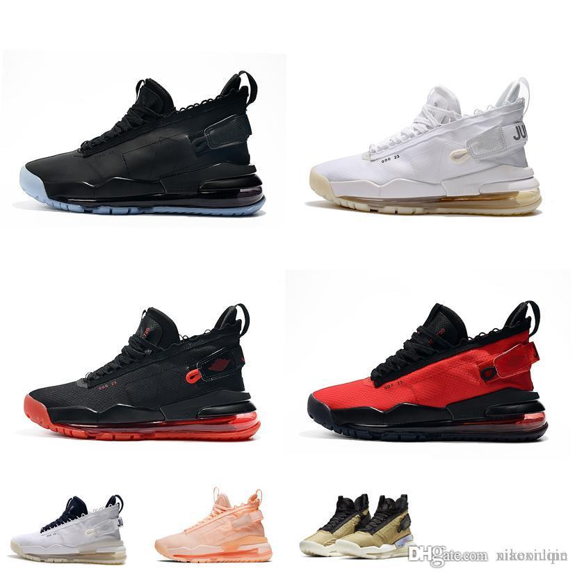 new product fb35b a66d3 Cheap mens jumpman proto max 720 basketball shoes retro triple black out  Red White high top air flights sneakers boots with box size 7 12