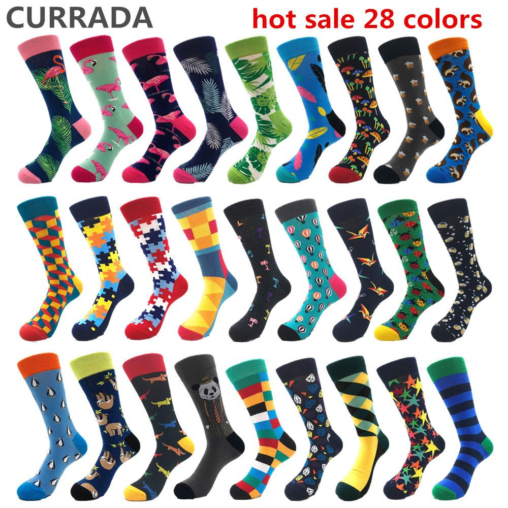 6fb5949ccc4 2019 Brand Quality Mens Happy Socks Combed Cotton Hot Sale Funny Socks  Autumn Winter Warm Crew Casual Mens Compression From Laftfly