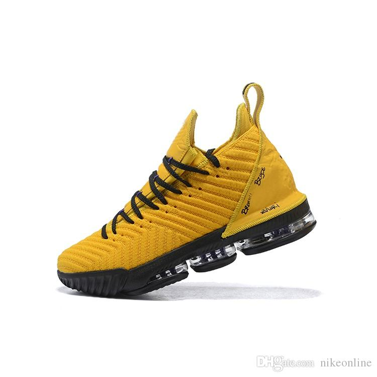 half off 35b92 d4245 New mens lebron 16 basketball shoes Yellow Black White Equality Gold Red  King Leopard BHM youth kids lebrons XVI sneakers boots with box