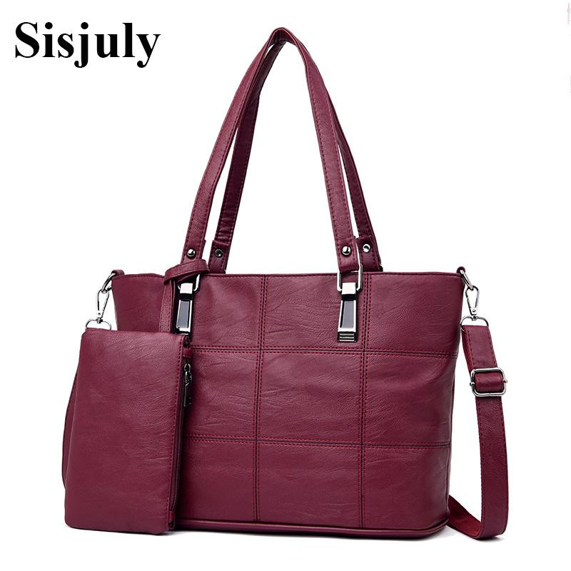 Sisjuly New Fashion Set Handbags Women Leather Tote Bag Designer ... 20eaea0d99
