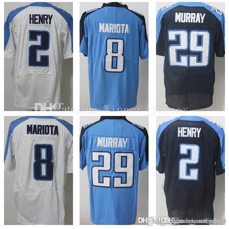 Hot 2019 Tennessee Titan 29 Demarco Murray 8 Marcus Mariota Jersey 2  for sale