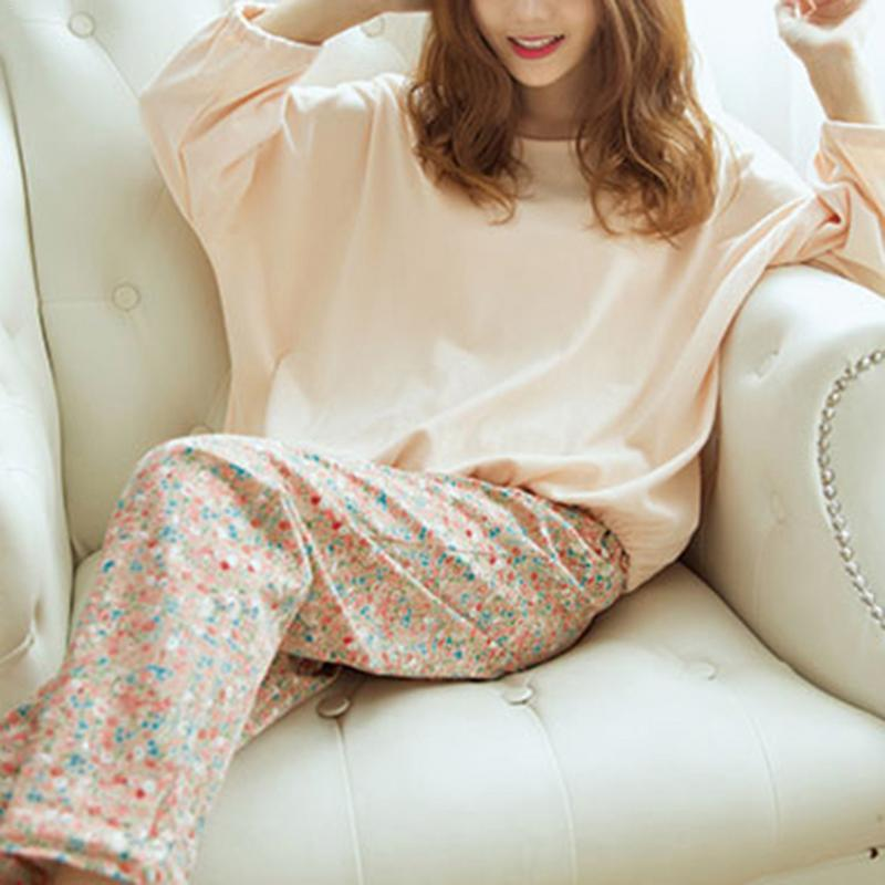 ec93b8313 2019 Korean Style Floral Long Sleeved Milk Silk Pajamas Set For Female  Autumn And Winter Ladies Cute Sleepwear Household Clothing From Roberte