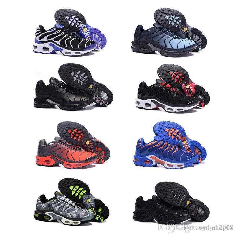 2ca30742f2fb0 Acheter Nike Air Max Plus TN 2019TN Plus Chaussures De Course Classique  Chaussures De Course En Plein Air Tn Noir Blanc Sport Baskets Sport Hommes  Requin ...