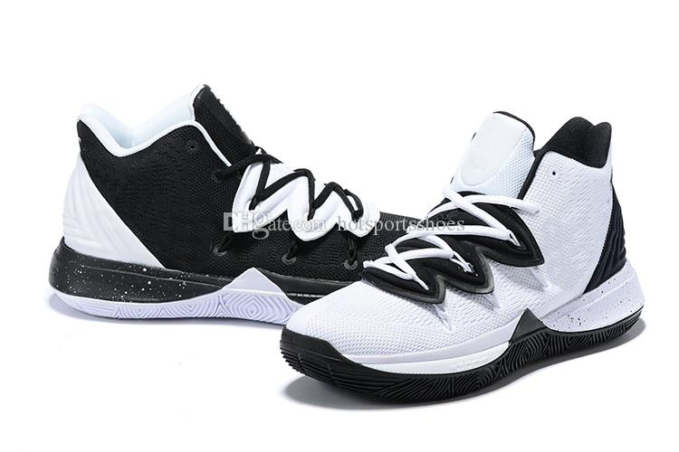 149d8f0295ab Kyrie 5 Oreo Black White Shoes Hot Sales Irving Basketball Shoes Store With  Box Size36 46 Children Sneakers Kids Sneakers Sale From Hotsportsshoes