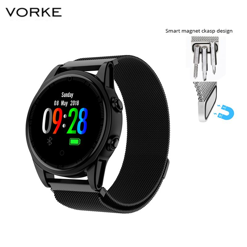 Vorke VC8 Smart Watch Activity Fitness Tracker Heart Rate Monitor Health Tacker Milanses Strap for All Smartphones
