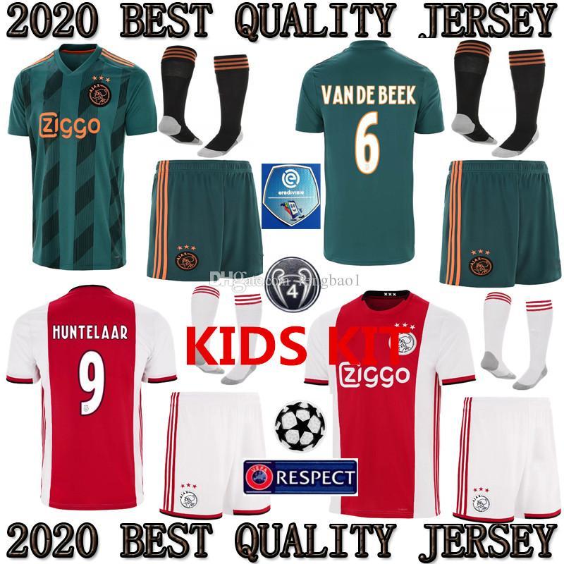 04f75dac1507 2019 TOP 2019 2020 Ajax Kids Kit Soccer Jersey 19 20 Ajax Children Home  AWAY Soccer Shirt Customized #10 KLAASSEN #34 NOURI Football Shirt From  Fengbao1, ...