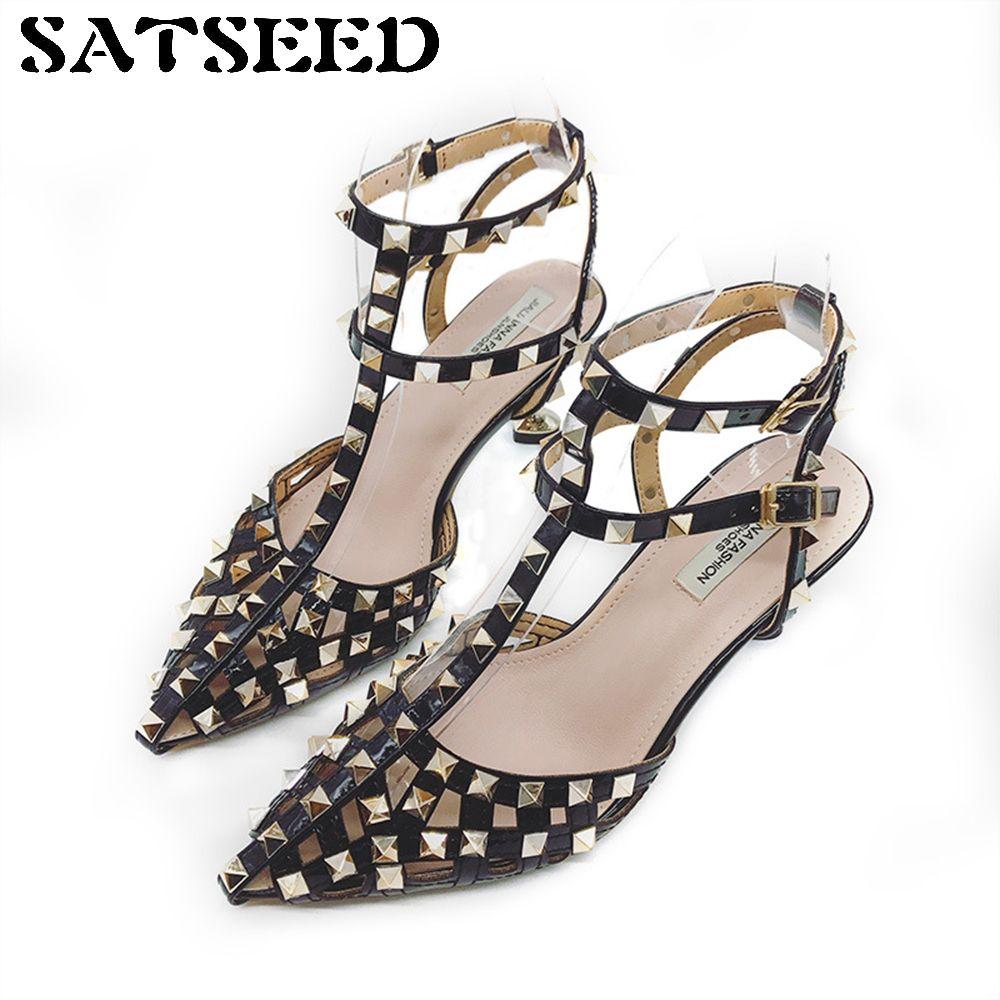 78056678661f6 Compre Zapatos 2018 Tacones Altos Para Mujer Sandalias Sandalias Atractivas Zapatos  Para Mujer Suela De Goma De Color Rosa Correa Del Tobillo Hebilla Casual ...