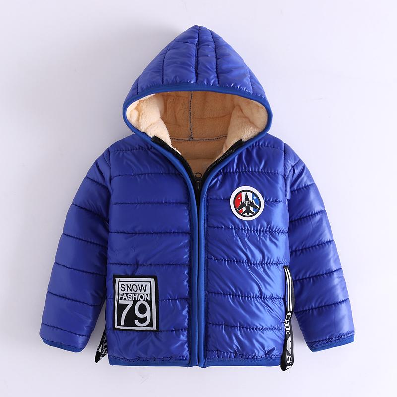 6caca25b980ed Good Quality Boy Jacket Winter Cotton Thicken Kids Boys Sports Outerwear  Hooded Zipper Warm Children Down Coats Velvet Clothes Girls Down Coats Long  Toddler ...