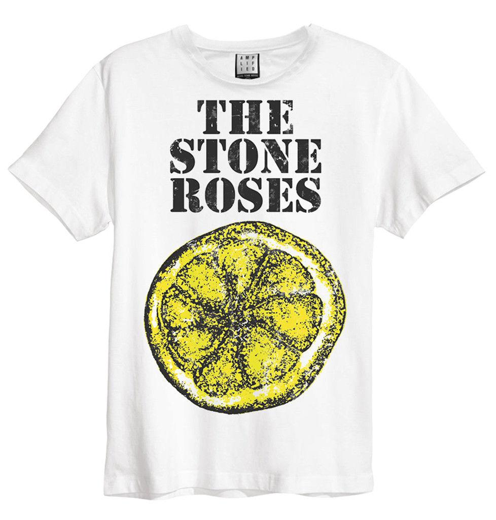 The Stone Roses Lemon (White) T-Shirt - Amplified Clothing - NEW &  OFFICIAL! Personality 2018 Brand Short Sleeve Tops Tee