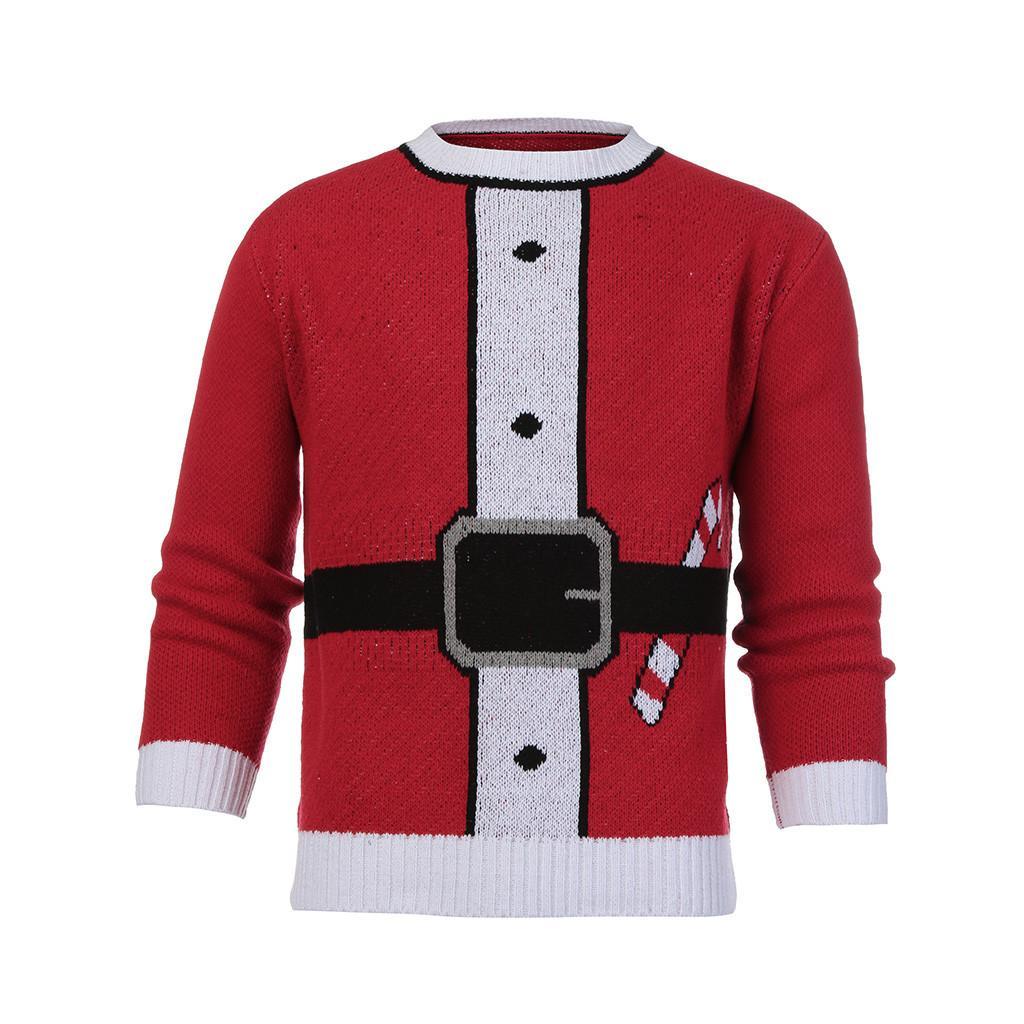 miglior sito web 17c4b bb767 2018 brutto maglione di Natale Babbo Natale stampa maglione allentato  pullover da uomo e da donna Natale novità autunno inverno vestiti