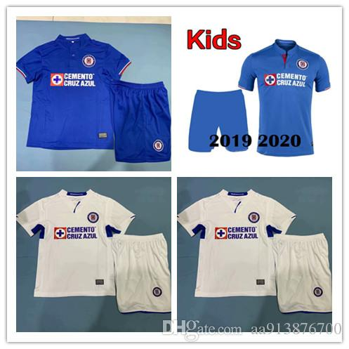 e86e3a3e282 2019 New Kids 2019 2020 Mexico Club Liga MX CDSC Cruz Azul Soccer Jersey  Children 19 20 Home Blue Away White Football Shirt Camisetas De Futbol From  ...