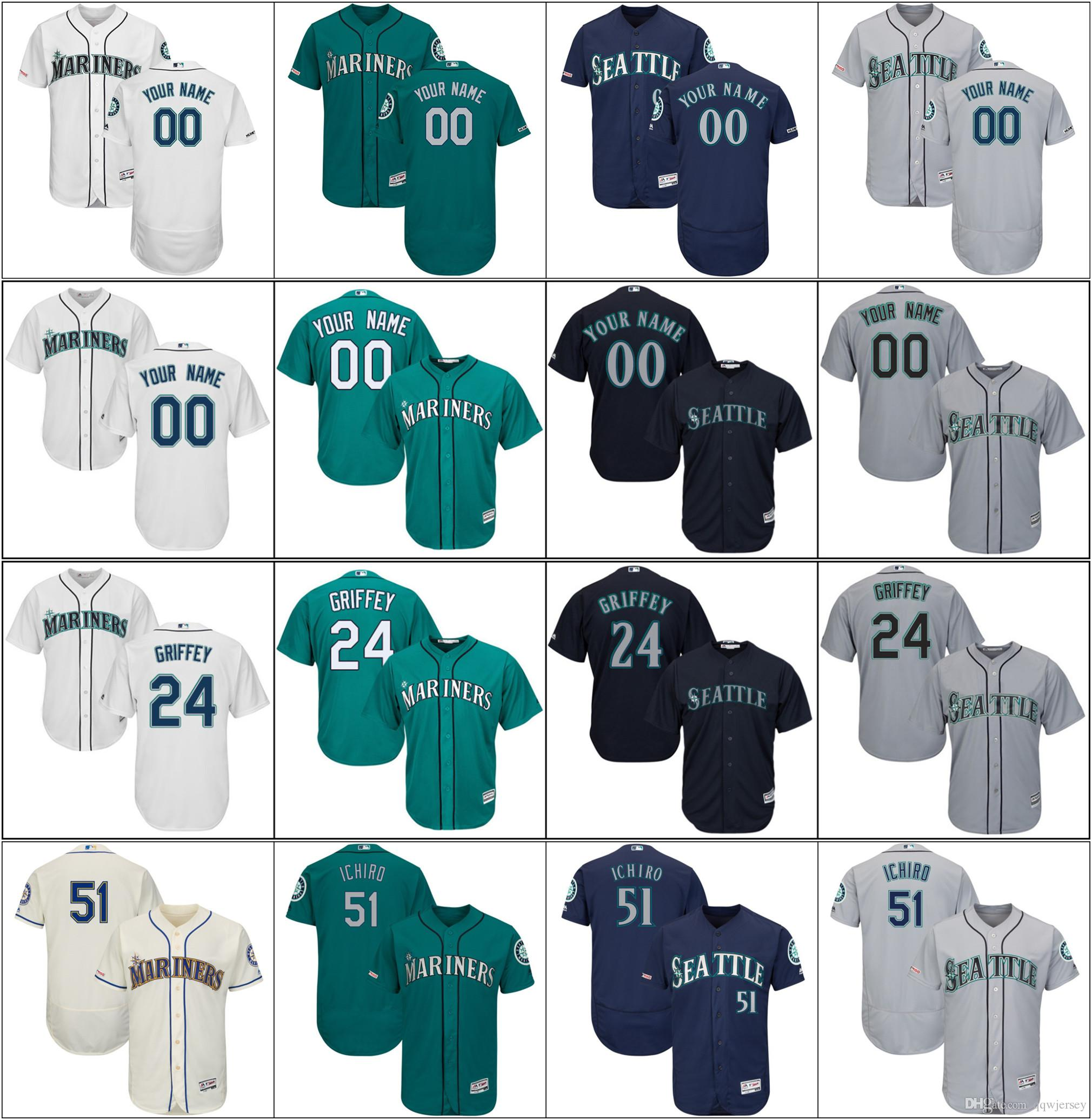 06e362b04cf Men Seattle Cheap New Mariners Ichiro 51 Suzuki Ken 24 Griffey Jr ...