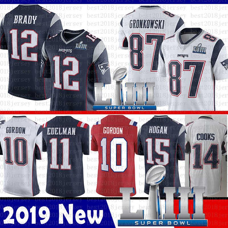 9e33769caa6 Top Sale New 12 Tom Brady Patriots Jersey 2019 Super Bowl LIII 87 ...