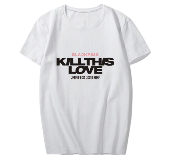 a1ee4701 Blackpink New Album Kill This Love Member Names Printing O Neck T Shirt  Kpop K Pop Unisex Fashion T Shirt For Summer Cool T Shirt Sites White  Designer T ...