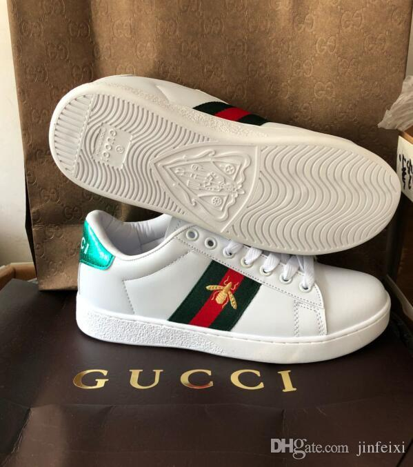 ba8d707d6a4 2018778Designer Shoes ACE Luxury Embroidered White Tiger Bee Snake Shoes  Genuine Leather Designer Sneaker Mens Women Casual Shoes Size 36 44 Best  Shoes ...