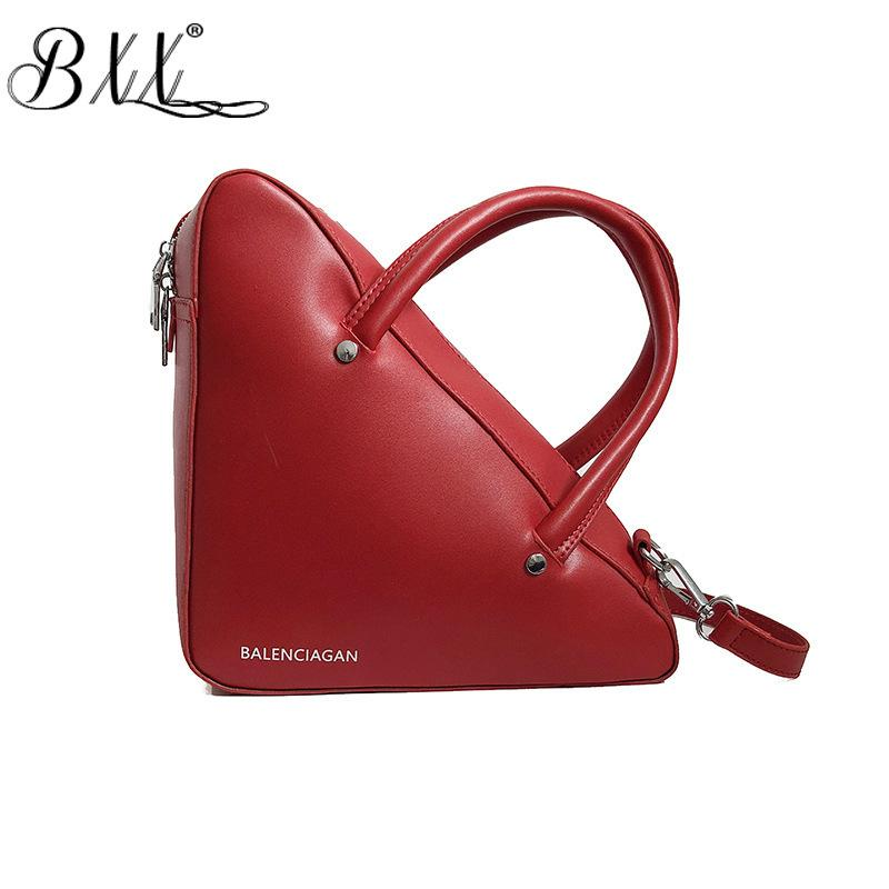 BXX Sac / 2019 Fashion Luxury Handbags Women Designer Zipper Solid Color Triangle Trend Mini Shoulder Crossbody Bags ZC754
