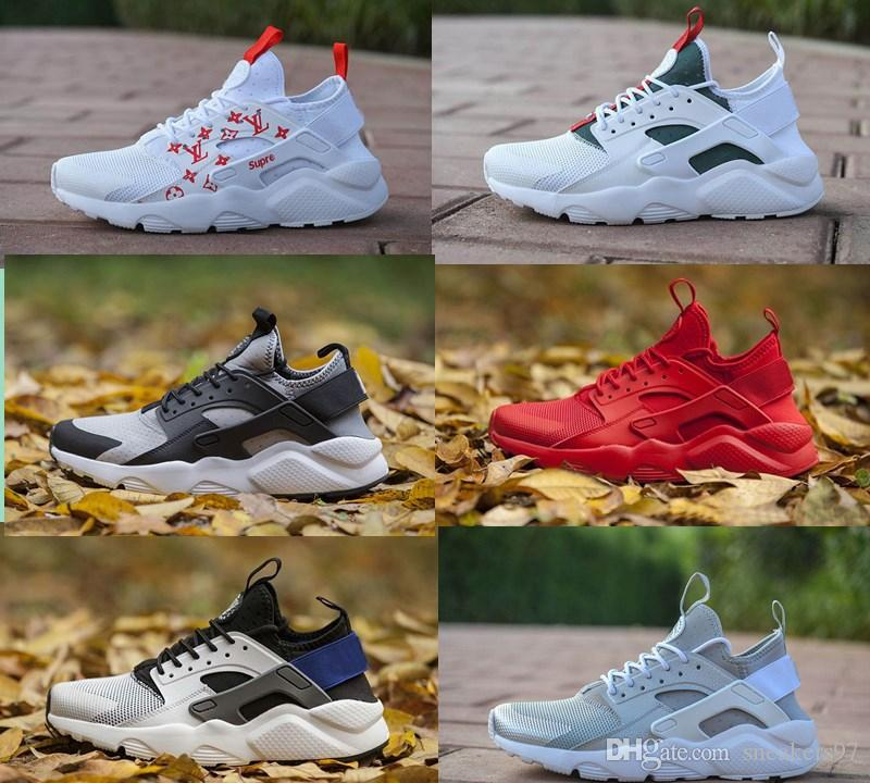 2019 Hot Sale Air Huarache 4 IV 4.0 Ultra Outdoor Shoes Huaraches Trainers  Men And Women Sneakers Triple Huraches Huraches Size 36 45 UK 2019 From ... 45086930e