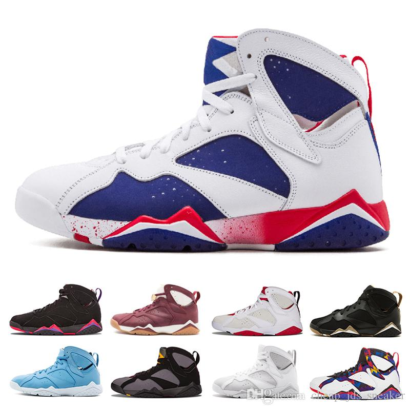 5cd9bf83fa5 2019 7s Classic 7 Men Basketball Shoes Outdoor Pure Money Hare Bunny Raptor  French Blue Bordeaux Hot Lava Verde Black Red White Blue Sneakers From ...