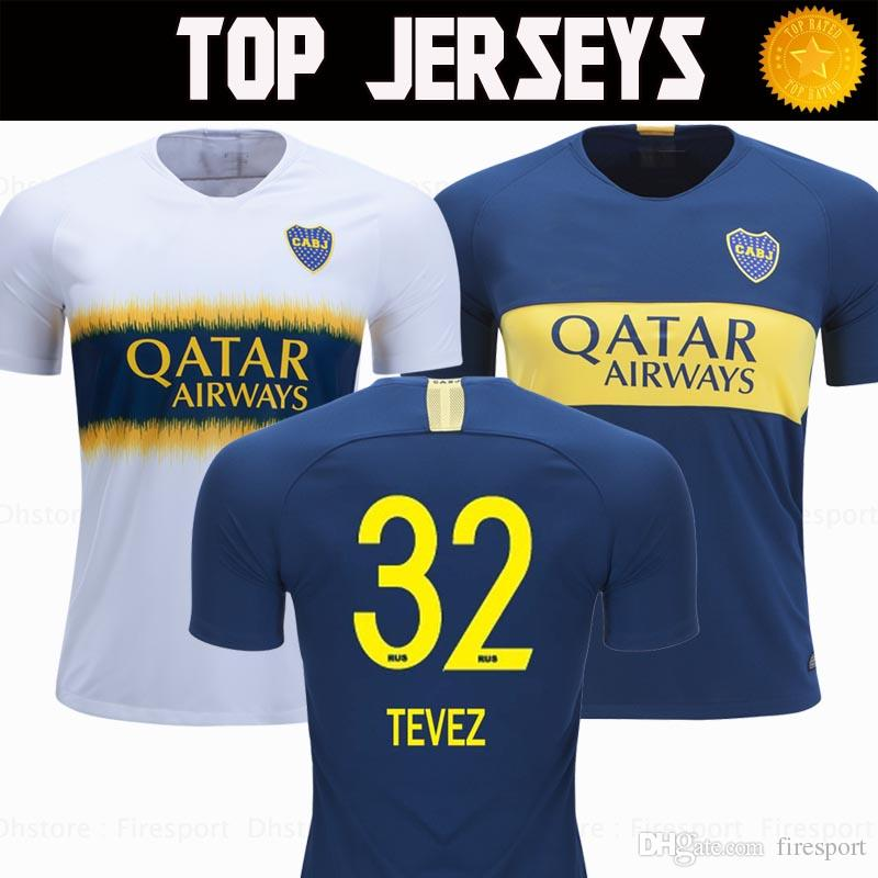 Camisetas De Fútbol De Boca Juniors 2018 2019 Camiseta De Super League  Argentina TEVEZ GAGO CARDONA 18 19 Tailandia Camisetas De Fútbol De Calidad  Uniformes ... 1871324ac7c7b