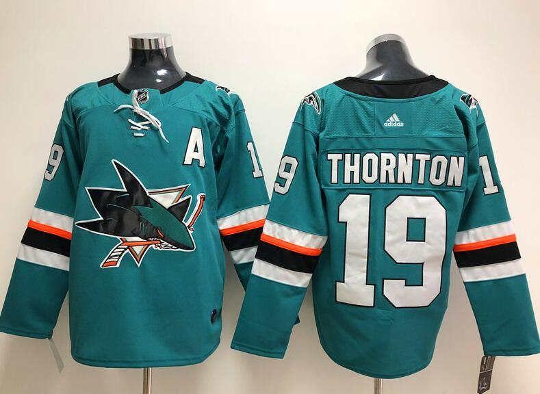promo code 11816 a276d 2019 Brent Burns NHL Hockey Jerseys Tim Heed Custom Authentic jersey  Stitched Marc-Edouard Vlasic Marcus Sorensen Away Breakaway Branded kid