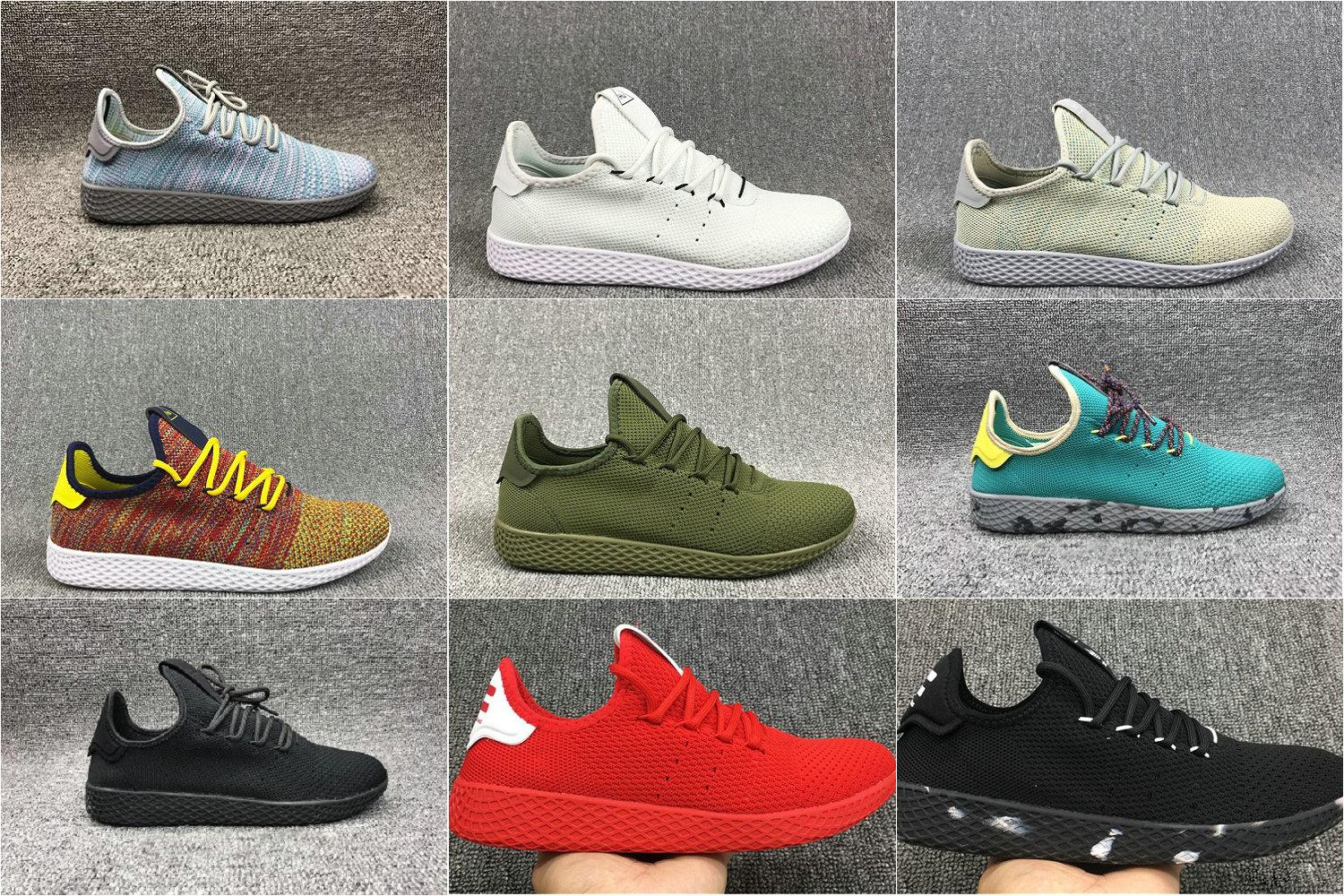 buy popular b7f27 99205 Pharrell Williams X Stan Smith Running Shoes for Men Women Tennis HU  Primeknit Breathable Runner Luxury Brand Designer Sports Sneakers Pharrell  Williams ...