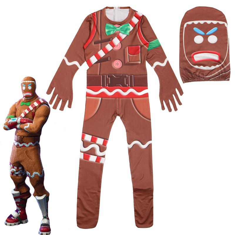 Kids Llama Skull Trooper Costumes jumpsuits Boys Character Clown Cosplay  Clothes Mardi Gras Costumes Raven Party Funny Clothing