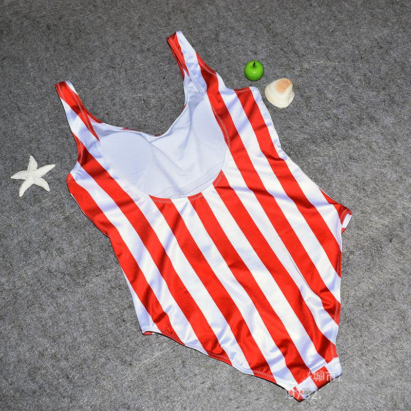 Vintage Women's Swimwears Swimming Suit One Piece Ladies Stripe Swimwear Hot Sale Swimsuit Monokini Push Up Bikini Bathing