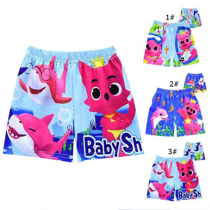 4fa215d962 2019 Kids Baby Shark Cartoon Swim Trunks Children Boys Swimming ...