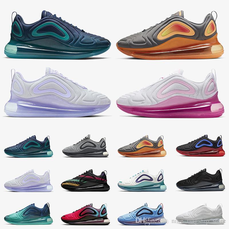 Nike Air Max 720 Zapatos para correr Azul Void University Flash Wolf Gris Triple Negro Blanco Hombres Mujer Zapatos para correr Zapatillas de deporte