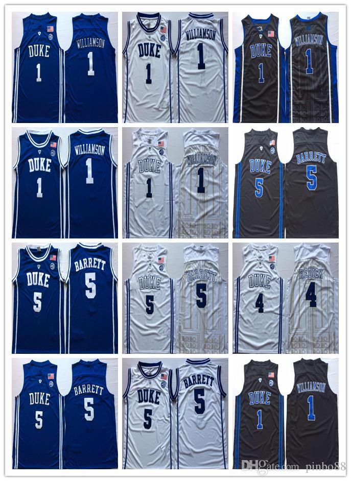 a1e664020da9 2019 2019 NCAA Duke Blue Devils College Basketball Jersey 1 Zion Williamson  2 Cam Reddish 5 RJ Barrett Christian 32 Laettner J.J 4 Redick Basketb From  ...