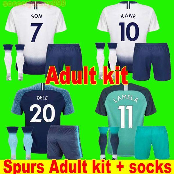 5ae429bc7 2019 Top Thailand KANE Soccer Jersey Adult Kit 2018 2019 LAMELA ERIKSEN  DELE SON Spurs Jerseys 18 19 Football Shirt Uniforms Maillot Away Third  From ...