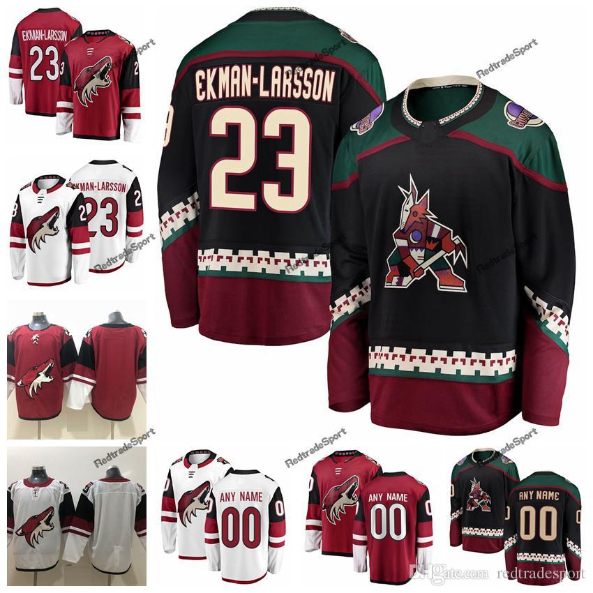 107d93bc 2019 2019 Customize Oliver Ekman Larsson Arizona Coyotes Hockey Jerseys  Alternate Black #23 Oliver Ekman Larsson Stitched Hockey Shirts C Patch  From ...