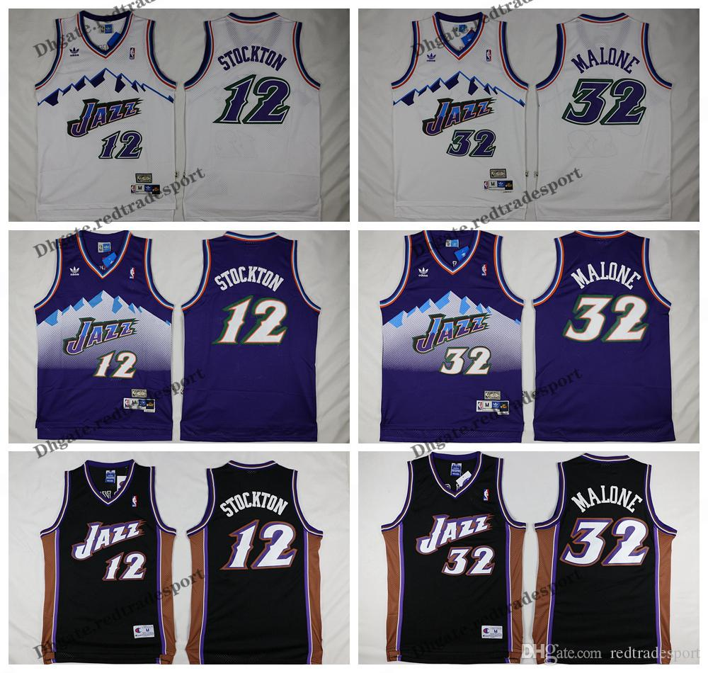 huge selection of a08d7 435b8 Vintage Mens #12 Utah John Stockton Karl Malone 32 Basketball Jersey Cheap  John Stockton Karl Malone Jazzes Stitched Shirts S-XXL