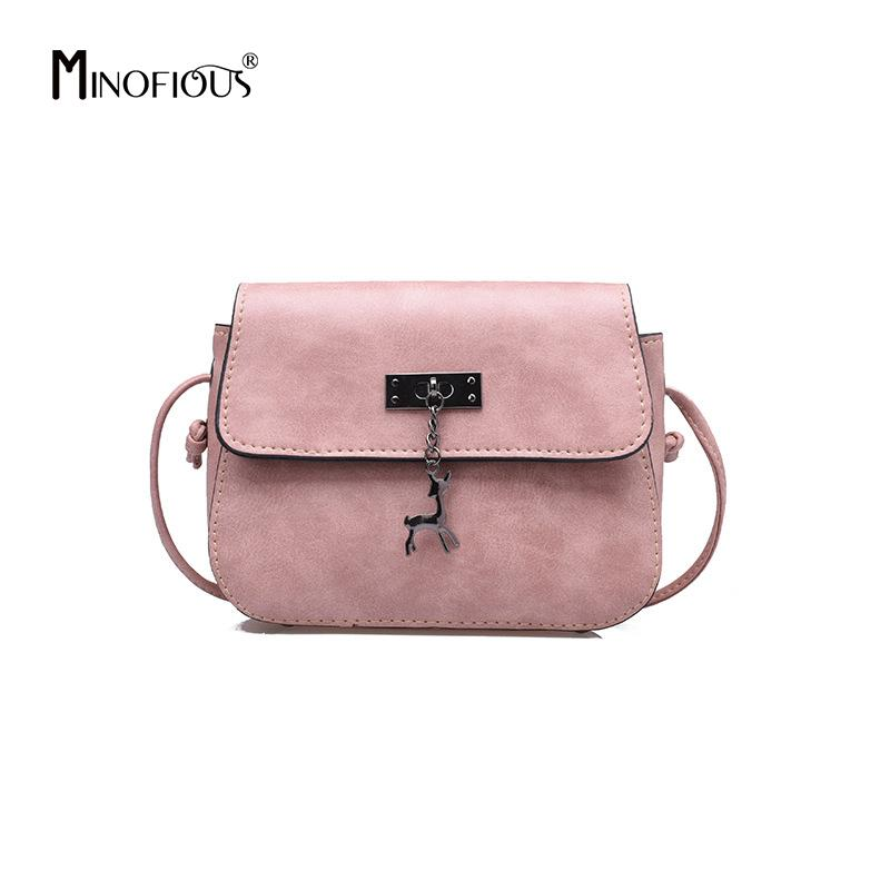 MINOFIOUS Fashion Casual Saddle Shoulder Bag Small Women PU Leather  Messenger Bags Solid Clutch Vintage Crossbody Mini Bag Handbag Wholesale  Hobo Purses ... 97664ab690da8