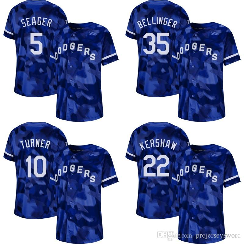 new arrival 69594 1a91a Mens Camo Los Angeles 5 Corey Seager 10 Justin Turner 22 Clayton Kershaw 35  Cody Bellinger 42 Jackie Robinson Dodgers Baseball Jerseys