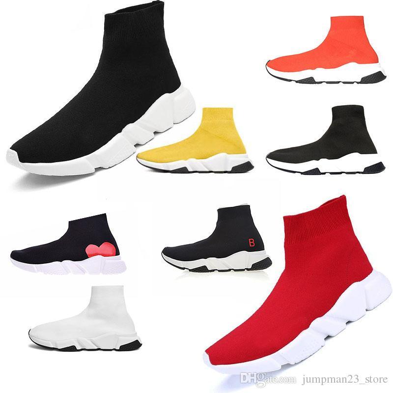 2007bca4273 Women Men Speed Sock Running Shoes for Mens Black White Red Speed ...