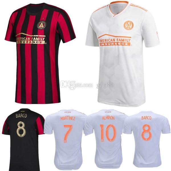 wholesale dealer 6dac1 2c6c8 2019 MLS Atlanta United FC Soccer Jerseys #10 G.MARTINEZ #7 MARTINEZ  Atlanta United FC Home red black Soccer Shirt 2019 Football Uniform