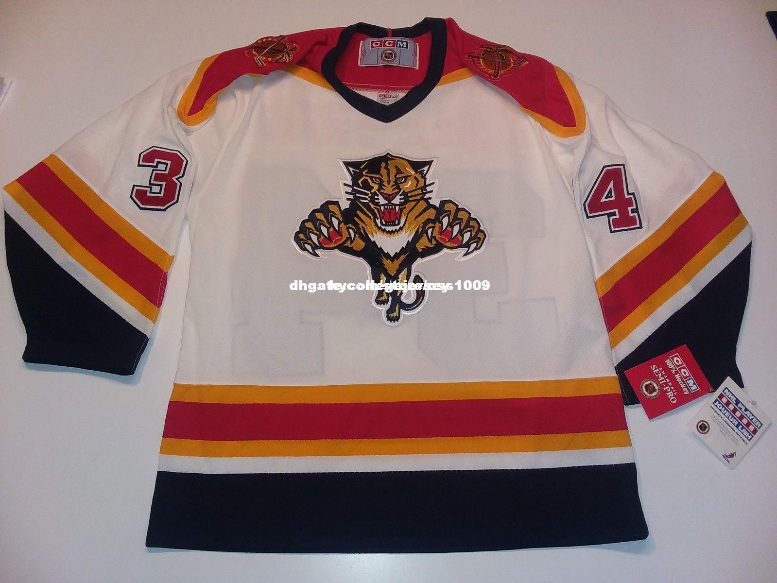 eaa4aa05955 Cheap custom Florida Panthers nwt rare Vanbiesbrouck CCM HOCKEY JERSEY  Personalized customization Men's Retro ice Hockey jersey